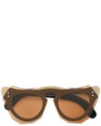 Женские светло-коричневые солнцезащитные очки