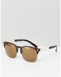 Мужские светло-коричневые солнцезащитные очки от A. J. Morgan