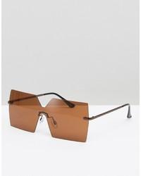 Женские светло-коричневые солнцезащитные очки от Asos