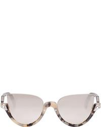 Женские светло-коричневые солнцезащитные очки от Fendi