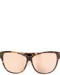 Женские светло-коричневые солнцезащитные очки от Linda Farrow