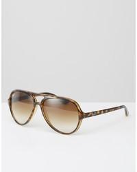 Женские светло-коричневые солнцезащитные очки от Ray-Ban