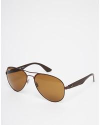 Мужские светло-коричневые солнцезащитные очки от Ray-Ban