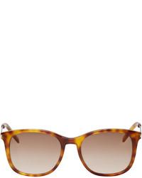 Мужские светло-коричневые солнцезащитные очки от Saint Laurent