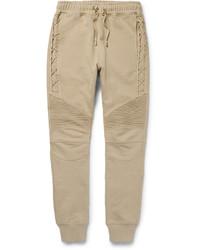 Мужские светло-коричневые спортивные штаны от Balmain