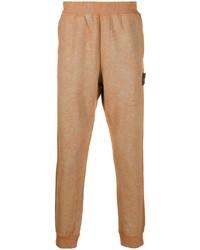 Мужские светло-коричневые спортивные штаны от Stone Island