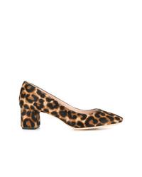 Светло-коричневые туфли из ворса пони с леопардовым принтом от Loeffler Randall
