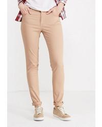 Светло-коричневые узкие брюки от Modis