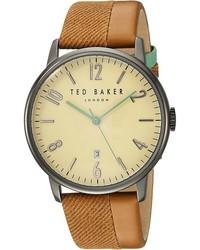 Светло-коричневые часы из плотной ткани