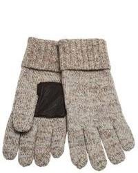 Светло-коричневые шерстяные перчатки