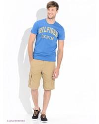 Мужские светло-коричневые шорты от Tommy Hilfiger