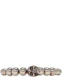 Светло-коричневый браслет из бисера