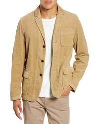 Светло-коричневый вельветовый пиджак