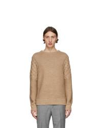 Мужской светло-коричневый вязаный свитер от Tiger of Sweden