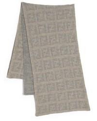 Светло-коричневый вязаный шарф