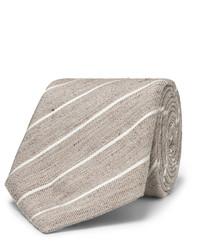 Мужской светло-коричневый галстук в вертикальную полоску от Canali