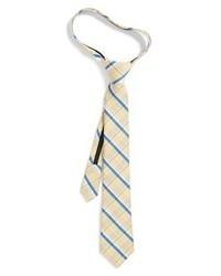 Светло-коричневый галстук в шотландскую клетку