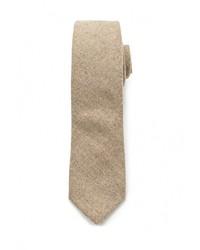 Мужской светло-коричневый галстук от Topman