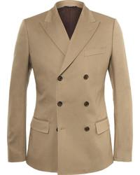 Мужской светло-коричневый двубортный пиджак от Dolce & Gabbana