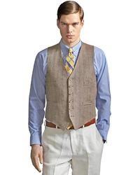 Мужской светло-коричневый жилет от Brooks Brothers