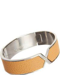 Светло-коричневый кожаный браслет