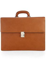 Светло-коричневый кожаный портфель
