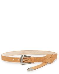 Женский светло-коричневый кожаный ремень от B-Low the Belt