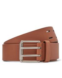 Мужской светло-коричневый кожаный ремень от Bottega Veneta