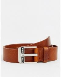 Мужской светло-коричневый кожаный ремень от Diesel