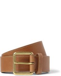 Мужской светло-коричневый кожаный ремень от Mulberry