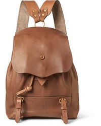 Светло-коричневый кожаный рюкзак