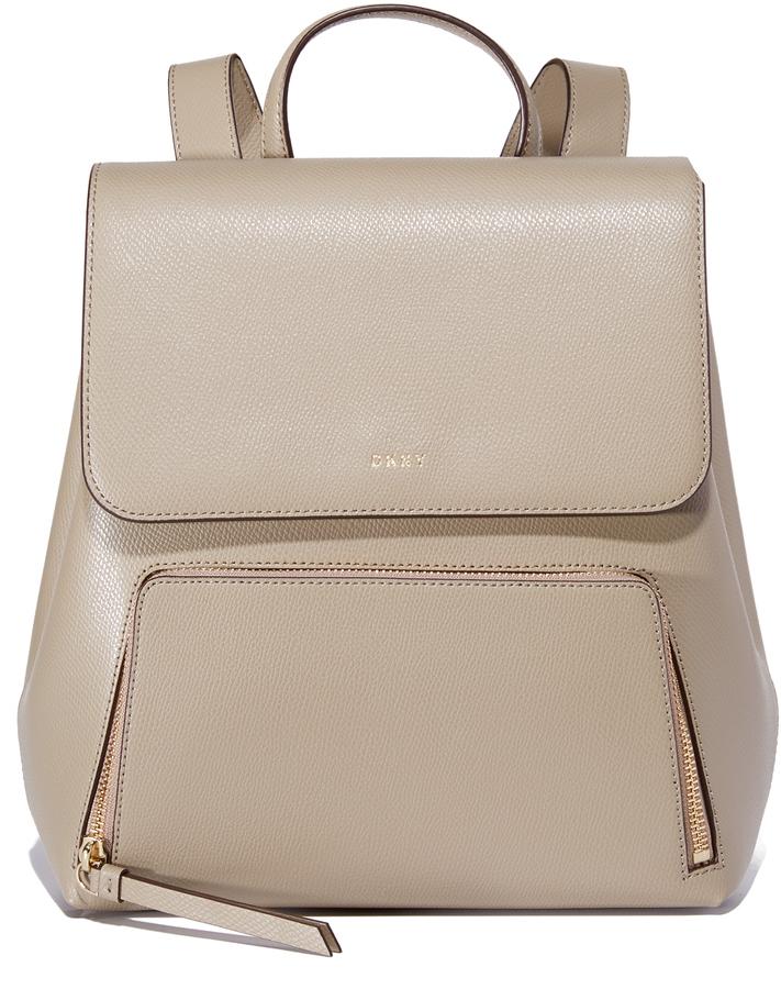 dba8c36c4ac1 Женский светло-коричневый кожаный рюкзак от DKNY, 21 159 руб ...