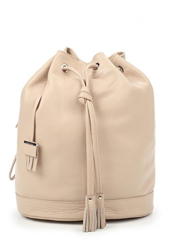 373765b908a3 Женский светло-коричневый кожаный рюкзак от Gianni Conti, 15 640 руб ...
