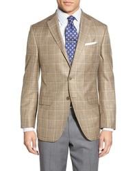 Светло-коричневый льняной пиджак