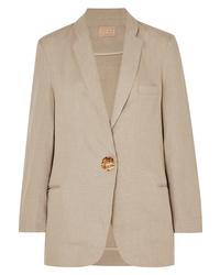 Женский светло-коричневый льняной пиджак от Albus Lumen