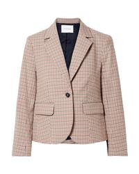 Женский светло-коричневый пиджак в клетку от Frame