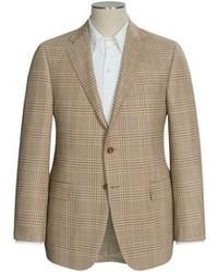 Светло-коричневый пиджак в шотландскую клетку