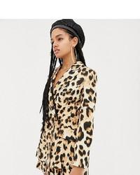 Женский светло-коричневый пиджак с леопардовым принтом от ASOS DESIGN