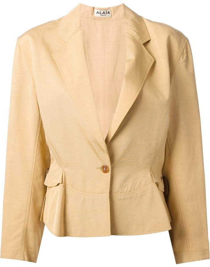 Женский светло-коричневый пиджак от Alaia