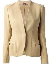 Женский светло-коричневый пиджак от Alexander McQueen