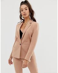 Женский светло-коричневый пиджак от ASOS DESIGN