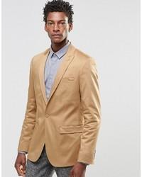 Мужской светло-коричневый пиджак от Asos