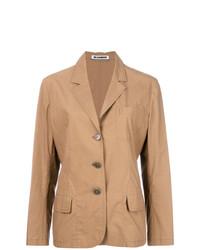 Женский светло-коричневый пиджак от Jil Sander Vintage
