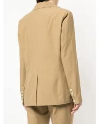 Женский светло-коричневый пиджак от Erika Cavallini
