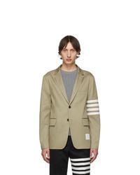 Мужской светло-коричневый пиджак от Thom Browne