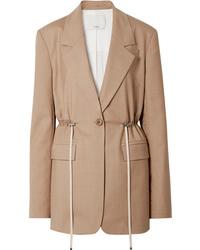 Женский светло-коричневый пиджак от Tibi