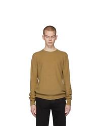 Мужской светло-коричневый свитер с круглым вырезом от Bottega Veneta