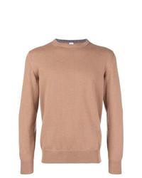 Мужской светло-коричневый свитер с круглым вырезом от Eleventy
