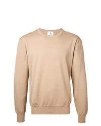Мужской светло-коричневый свитер с круглым вырезом от Kent & Curwen