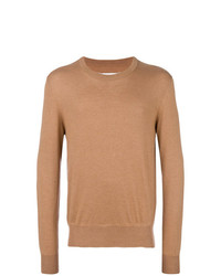 Мужской светло-коричневый свитер с круглым вырезом от Maison Margiela